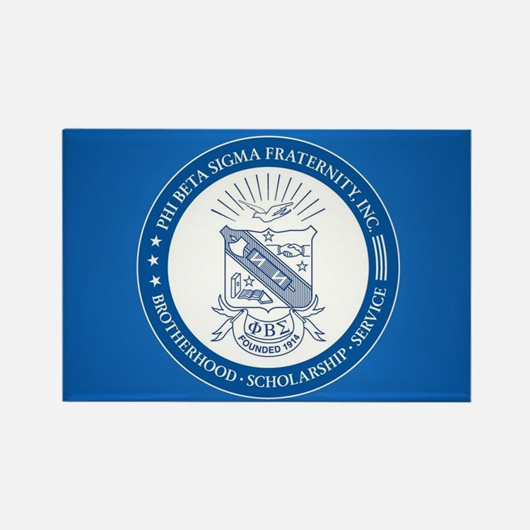 Phi Beta Sigma Shield Rectangle Magnet