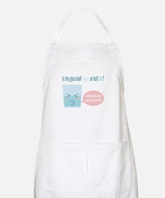 Funny glass half full cartoon Apron