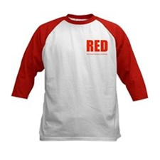 Color Red 2-sided Kid's Baseball Jersey