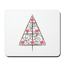 Love Tree, Tree with Hearts Mousepad