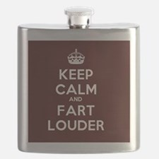 Keep Calm and Fart Louder Flask