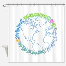 Think Green World Shower Curtain
