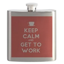 Keep Calm and Get to Work Flask