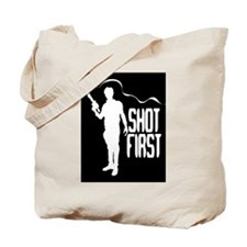 Han Shot First Tote Bag