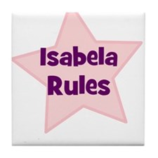 Isabela Rules Tile Coaster