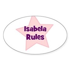Isabela Rules Oval Decal