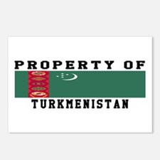 Property Of Turkmenistan Postcards (Package of 8)