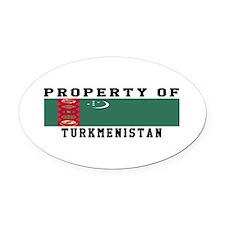 Property Of Turkmenistan Oval Car Magnet