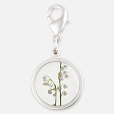 lily of Valley Silver Round Charm