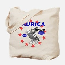 Murica Eagle and Cowboy Tote Bag