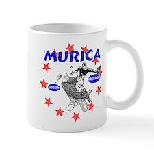 Murica Eagle and Cowboy Mug