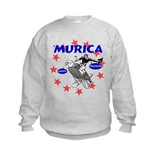 Murica Eagle and Cowboy Sweatshirt