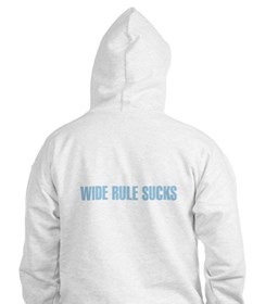 Writer's Wide Rule Sucks Hoodie