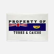 Property Of Turks & Caicos Rectangle Magnet