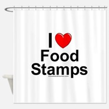 Food Stamps Shower Curtain
