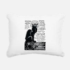 Chat Noir Cat Rectangular Canvas Pillow