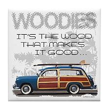 Woodies Tile Coaster