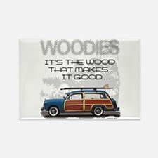 Woodies Rectangle Magnet