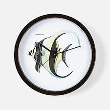 Moorish Idol Fish Wall Clock