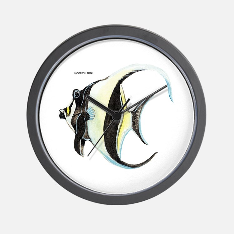 Moorish Idol Fish Wall Clock