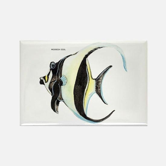 Moorish Idol Fish Rectangle Magnet