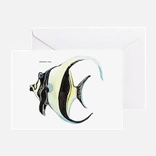 Moorish Idol Fish Greeting Card