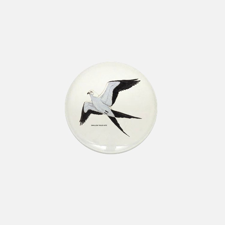 Swallow-Tailed Kite Bird Mini Button