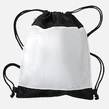 Number Thirteen in white Drawstring Bag