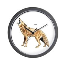 Coyote Wild Animal Wall Clock