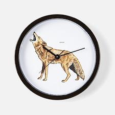 Coyote Wild Animal Wall Clock