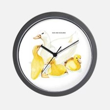 Duck and Ducklings Wall Clock