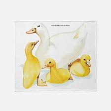 Duck and Ducklings Throw Blanket