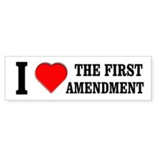 First Amendment Bumper Bumper Sticker