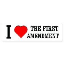 First Amendment Bumper Car Sticker
