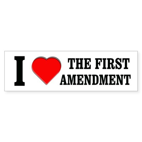 First Amendment Bumper Sticker