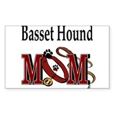 Basset Hound Mom Rectangle Decal