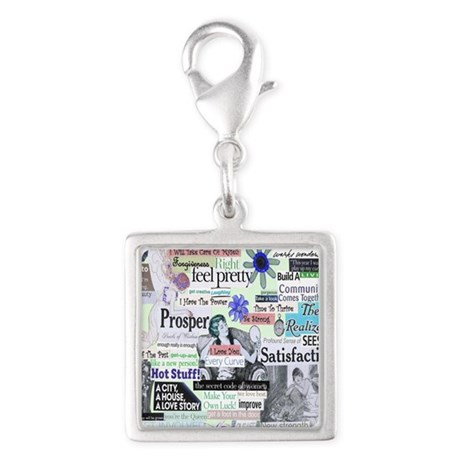 Survive to THRIVE Silver Square Charm