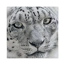 White Snow Leopard Queen Duvet