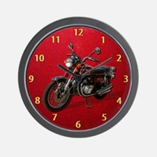 Red Motorcycle Clock Wall Clock