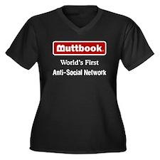 Buttbook Women's Plus Size V-Neck Dark T-Shirt