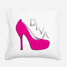 Shoe Diva Square Canvas Pillow
