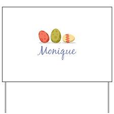 Easter Egg Monique Yard Sign