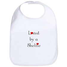 Loved by a Sheltie Bib