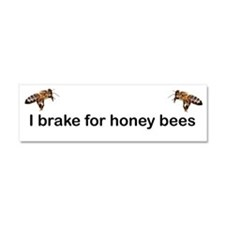 I brake for honeybees Car Magnet 10 x 3