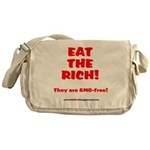 Eat The Rich - They Are GMO-Free! Messenger Bag