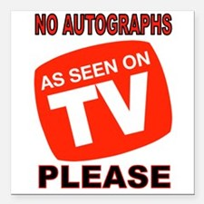 "TV STAR Square Car Magnet 3"" x 3"""