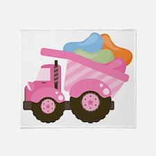 Easter Jelly Bean Dump Truck Throw Blanket