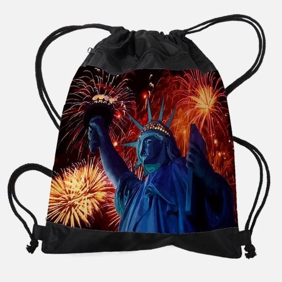 Lady_Liberty_Poster.png Drawstring Bag