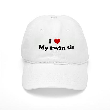 I Love My twin sis Cap