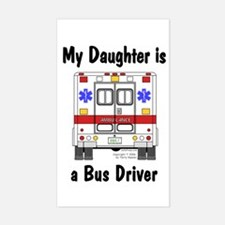 Bus Driver Daughter Rectangle Decal